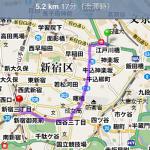 iPhoneによるGoogle経路探索とGoogleストリートビュー