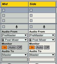 Ableton M/S処理の際のAudio To