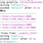 Gulp + SASS + assemble を動かすためのgulpfile.jsの設定