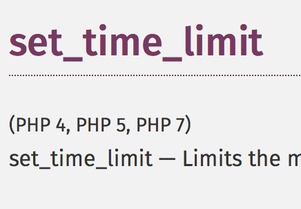 set_time_limit