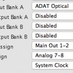 MOTU 828mk3でADATの入力をCueMix FXから操作する方法