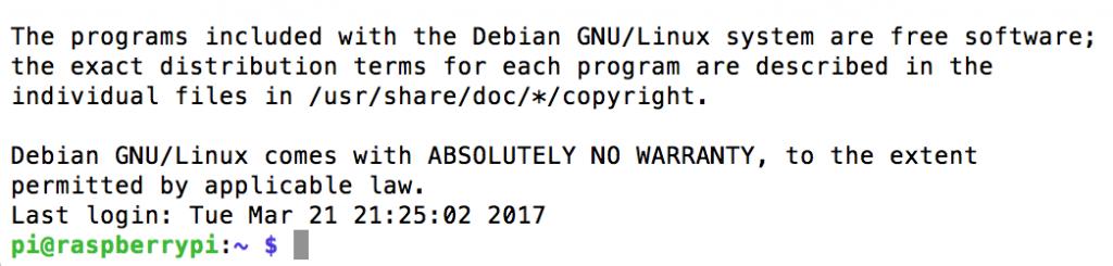 SSHでRaspberry PIにログインできた