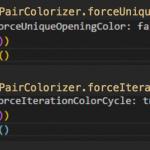 【Visual Studio Code】対応する括弧(カッコ)に自動で色を付けるExtension
