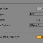 Ableton Live 10 でMP3のみ書き出す方法
