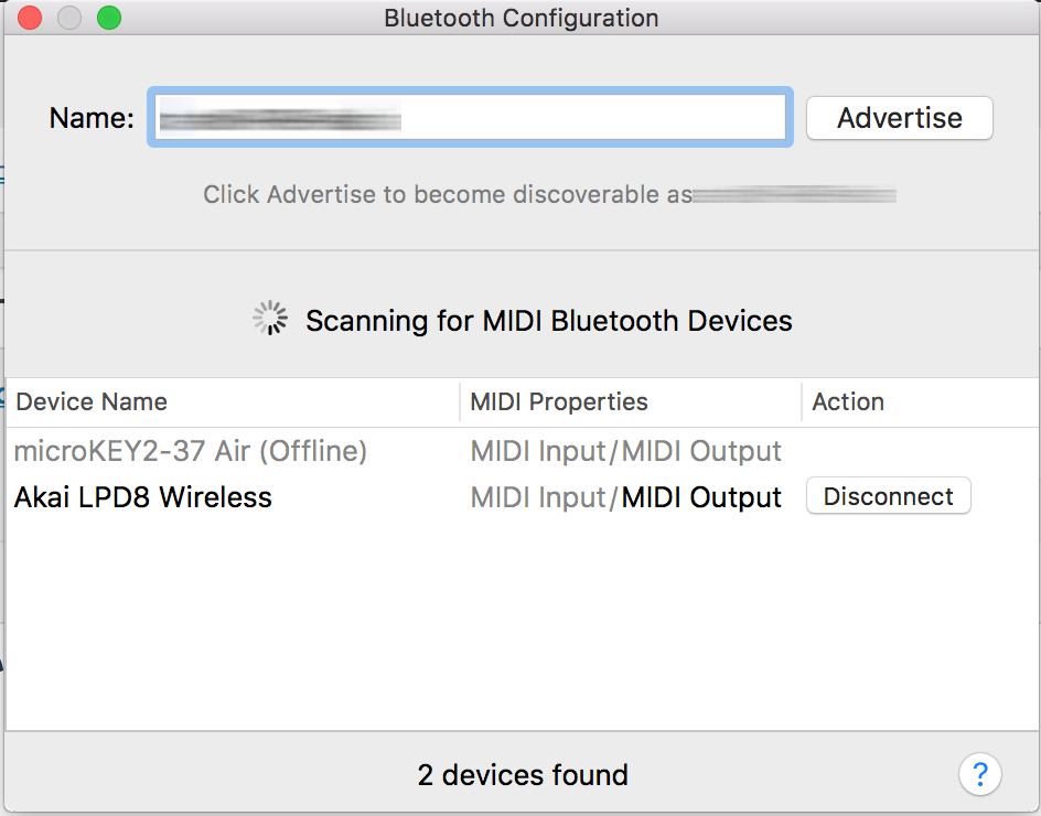 Bluetooth MIDI Connect