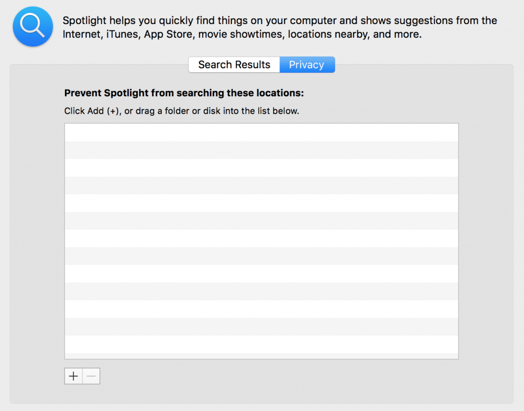 spotlightの検索対象から外す