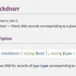 PHPのcheckdnsrrでDNSレコードの存在が正しく確認できない場合の対策