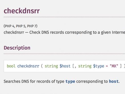 checkdnsrr PHP