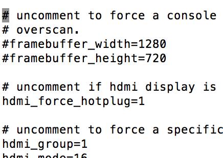 Raspberry PI 3のHDMI出力設定