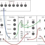 モジュラーシンセ接続の基本(VCO + エンベロープ + VCA + VCF)
