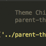 WordPressの子テーマが壊れていますと表示される場合